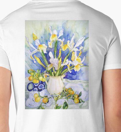 Dutch Iris with Cumquats Mens V-Neck T-Shirt