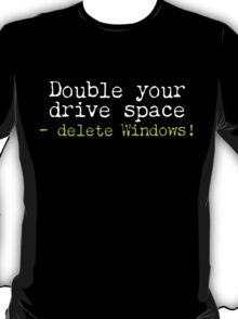 Double Your Drive Space Dark Shirt T-Shirt