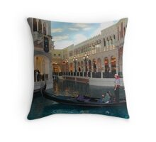 Gondolier at Grand Canal Shops ~ Venetian Throw Pillow