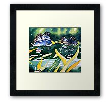 Looks ok to me - frog blue Framed Print