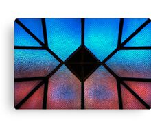 Sky Wall Stained Glass Canvas Print