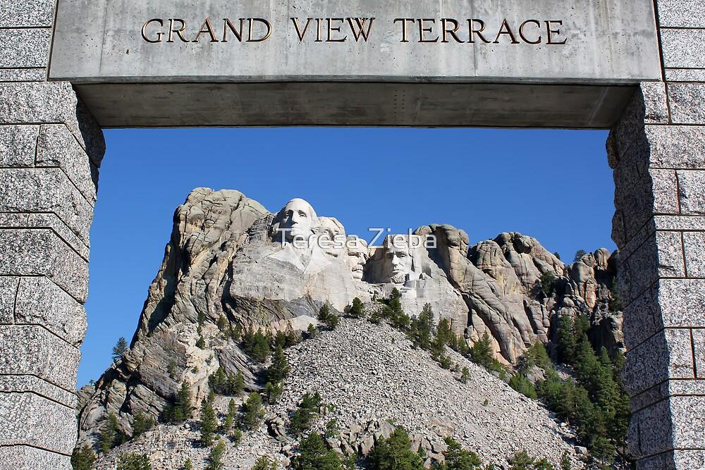 Framed Mount Rushmore Memorial by Teresa Zieba