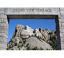 Framed Mount Rushmore Memorial Photographic Print