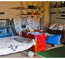 family life in Sutter's Fort, Sacramento CA Photographic Print