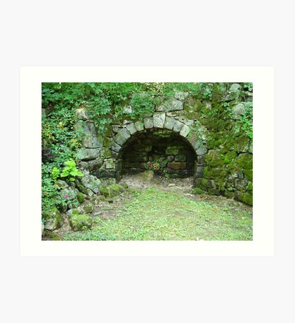 Moss-covered Structure - Built by Native Americans Art Print