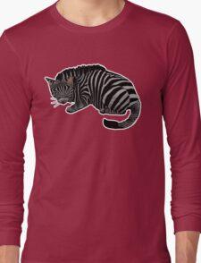 Zebra Cat REdone Long Sleeve T-Shirt
