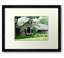 Stone Cottage House Framed Print