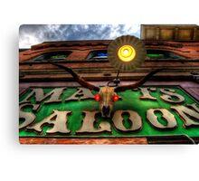 Matts Saloon Canvas Print