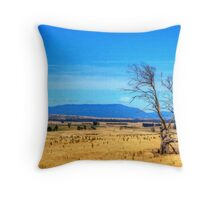 A lonely tree near Evandale, Tasmania Throw Pillow