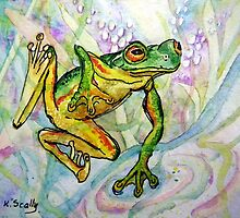 Joy - Frog 1 by scallyart