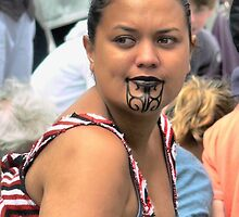 Maori Pride in a Crowd by Larry Lingard/Davis