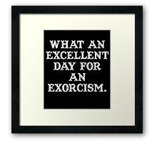 The Exorcist (white) Framed Print