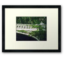 BOW BRIDGE Framed Print