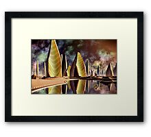 Home In Negative Framed Print