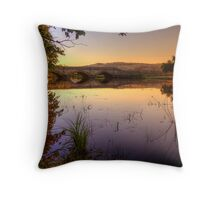 Sunset on Macquarie River in hdr Throw Pillow
