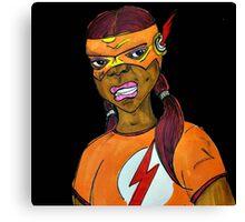 Flash Girl Canvas Print