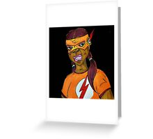 Flash Girl Greeting Card