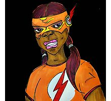 Flash Girl Photographic Print