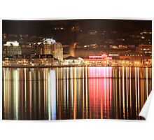 Kelowna Waterfront at night one Poster