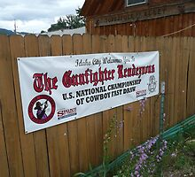 Cowboy Fastdraw Competition Sign. by Mywildscapepics