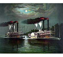 Race Of The Steamers Robert E. Lee and Natchez Photographic Print