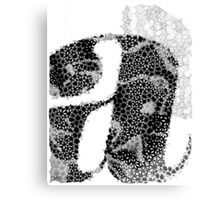 Letter A monogram black Canvas Print