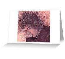 BOB DYLAN PORTRAIT IN INK Greeting Card