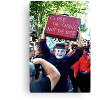S.L.A.M. (Save Live Australian Music) Protest Rally IV. Canvas Print