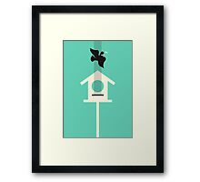 A bird stole my song Framed Print