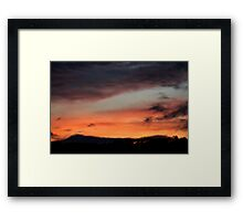 fired sky Framed Print