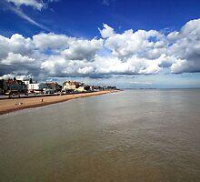 Deal beach from the pier by John Gaffen