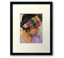 Shan girl Framed Print