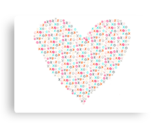 xoxo heart Canvas Print