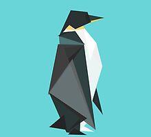 fractal geometric emperor penguin by Budi Kwan