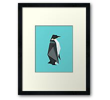 fractal geometric emperor penguin Framed Print
