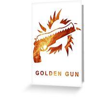 Destiny - Golden Gun Greeting Card
