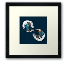 the wave is forever Framed Print