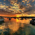 Sunset Mooring - Paradise Beach, Sydney - The HDR Experience by Philip Johnson