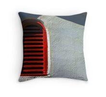 a vent painted red Throw Pillow
