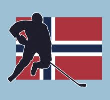 I Love Norge - Norway National Flag & Hockey Player Skjorte by deanworld