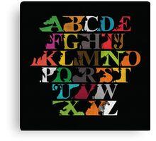 Alphabet zoo Canvas Print