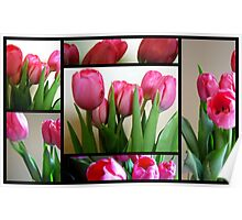 Tulips Stain Glass (204 views so far) Poster