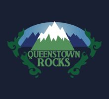 QUEENSTOWN rocks New Zealand with map Kids Clothes