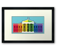 White House Lit Up With Rainbow After Same-Sex Marriage Ruling #marriageequality Framed Print