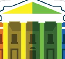 White House Lit Up With Rainbow After Same-Sex Marriage Ruling #marriageequality Sticker