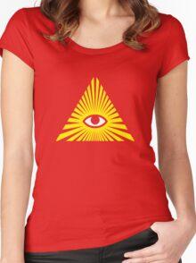All Seeing Eye, Illuminati Women's Fitted Scoop T-Shirt