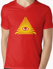 All Seeing Eye, Illuminati Mens V-Neck T-Shirt