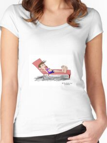 Relaxing Women's Fitted Scoop T-Shirt