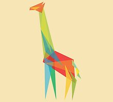 Fractal Geometric Giraffe by Budi Kwan