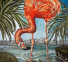 Flamingo Beach: the digital version by Alma Lee by Alma Lee